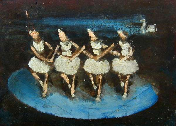 The Small Swans' Dance, 1984 (oil on card)