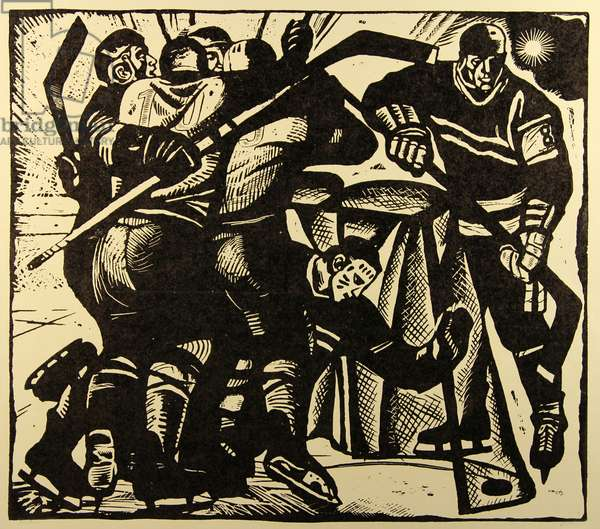 Victory, 1971 (linocut on paper)