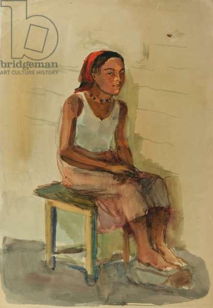 Gypsy Woman, 1936 (w/c on paper)
