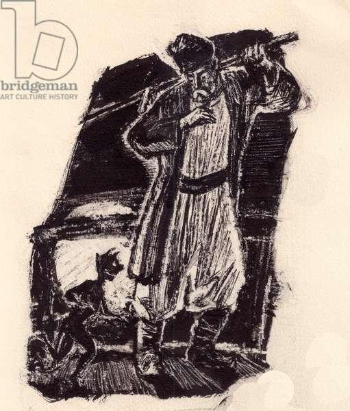 Illustration, 1962 (gouache on paper)