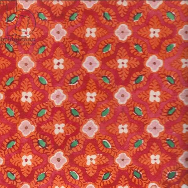 Textile Design, 1970 (gouache on paper)