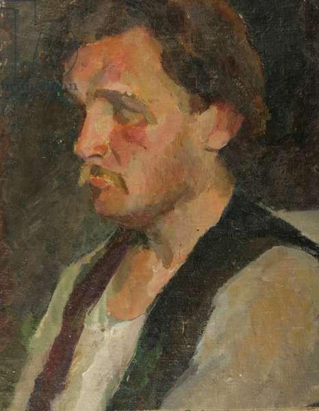 Portrait of a Russian Muzhik, 1930s (oil on canvas)