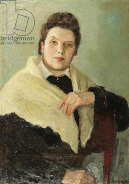 Portrait of a Lady in White, 1930s (oil on canvas)