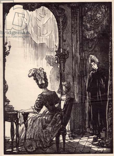 Illustration to the play Intrigue and Love (Kabale und Liebe) (1784) by Friedrich Schiller, 1949 (woodcut)