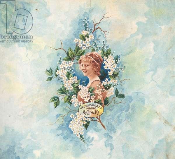 """Bird Cherry"" Soap, Siou & C-ie, 1900s (colour litho)"