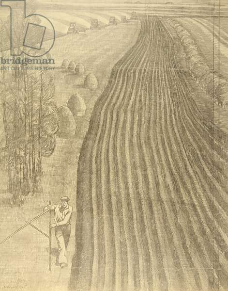 Spring Ploughing, 1965 (pencil on paper)