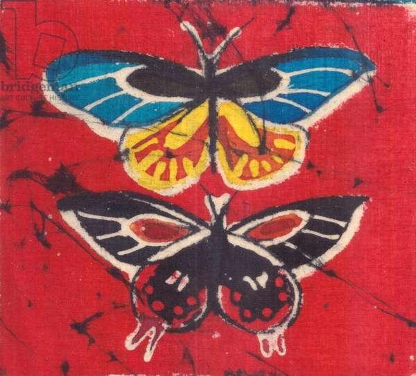 Butterflies, 2016 (batik)