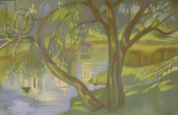 On the River, 2013 (pastel on paper)