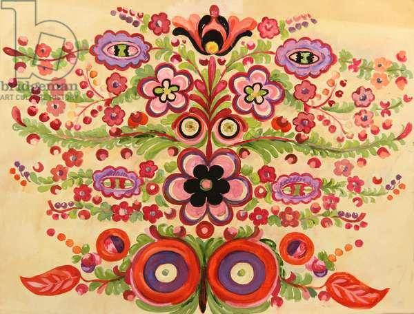 Textile Design, 1964 (tempera on paper)