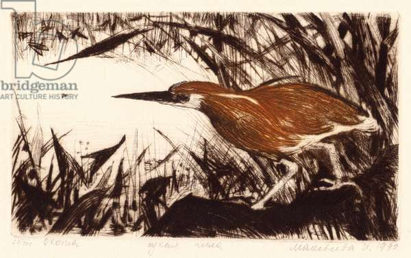 Hunting, 1990 (drypoint)