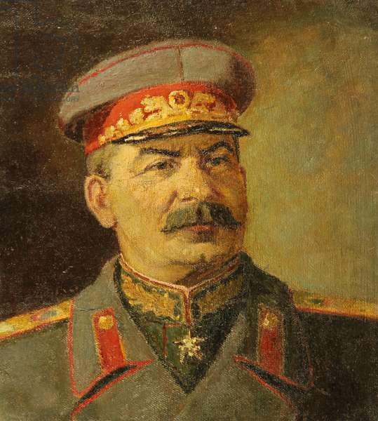Joseph Stalin, 1946 (oil on canvas laid on board)