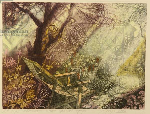 My Grandmother's Garden, 2009 (colour etching on paper)