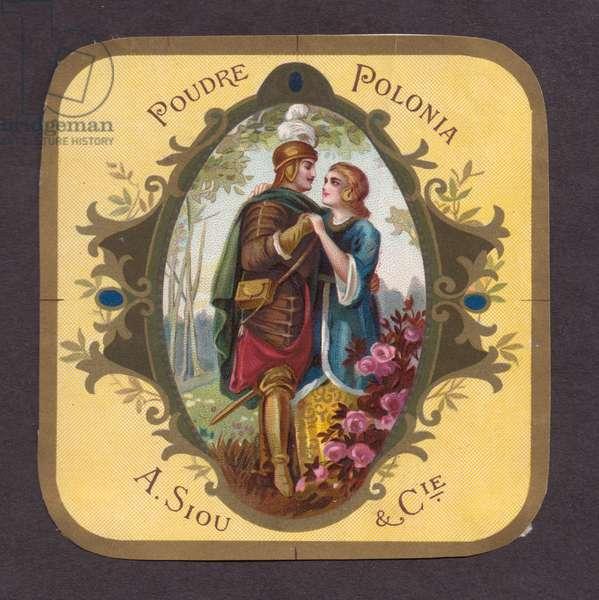 """Polonia"" Powder - produced by A. Siou & C-ie, 1900s (colour litho)"