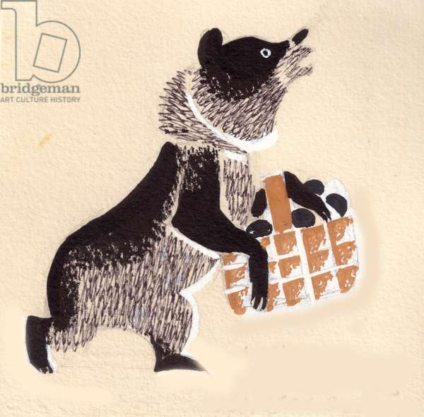 Illustration from 'The Story of the Three Bears', tale adapted by Leo Tolstoy, 1872 (gouache on paper)