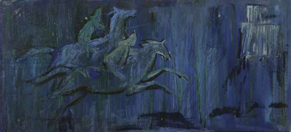 Sketch for a stage curtain, c.1960 (tempera on paper)
