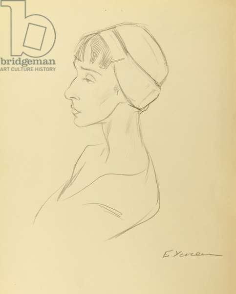 Prima Ballerina Assoluta Maya Plisetskaya, 1972 (pencil on paper)