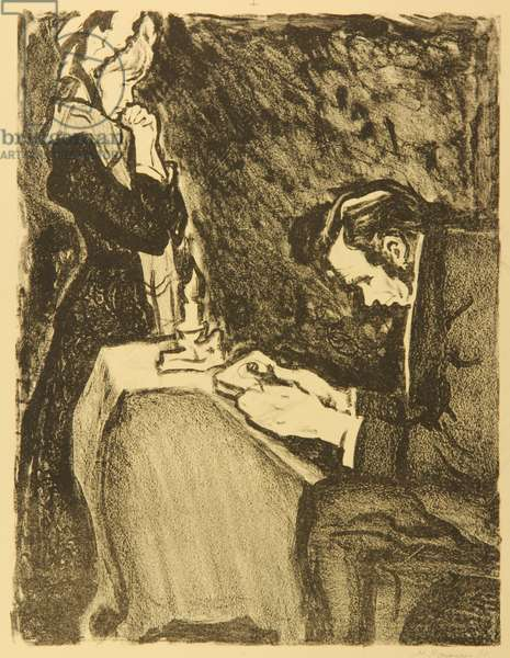 At the mortgager's, Illustration to Fyodor Dostoyevsky's short story