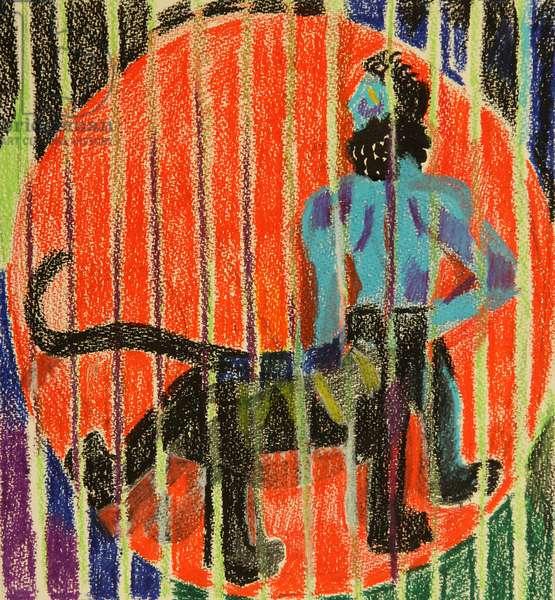 Centaur, 1980 (pastel on paper)