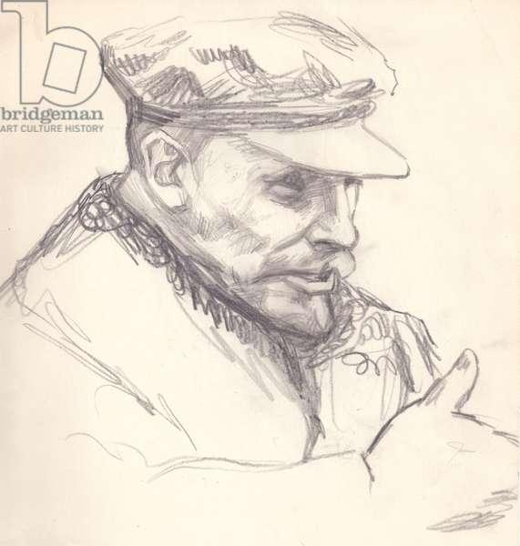 Vladimir Ilych Lenin, 1964 (pencil on paper)
