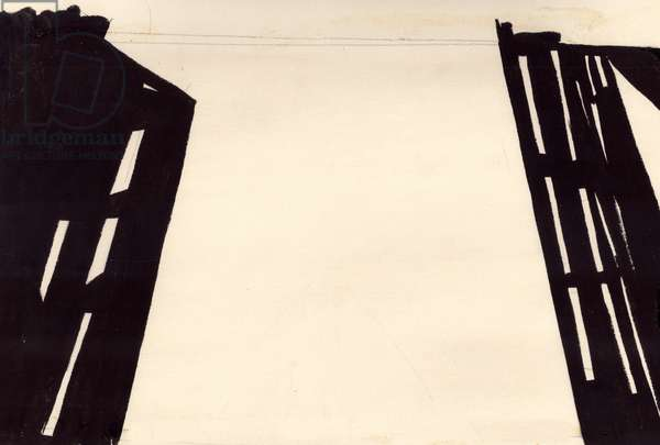 Illustration from 'Brooklyn Bridge' by Vladimir Mayakovsky, 1925,  1979 (gouache on paper)