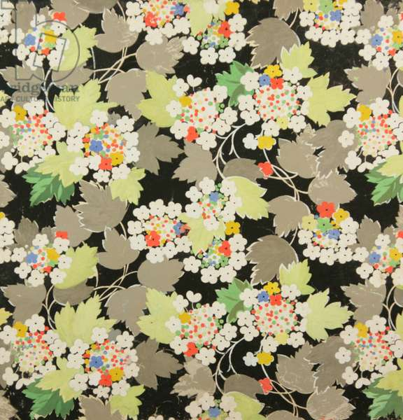 Textile design, 1951 (gouache on paper)
