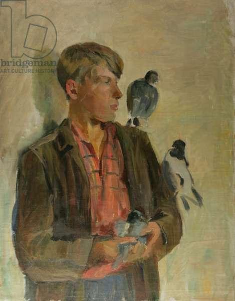 Pigeon Fancier, 1930s (oil on canvas)