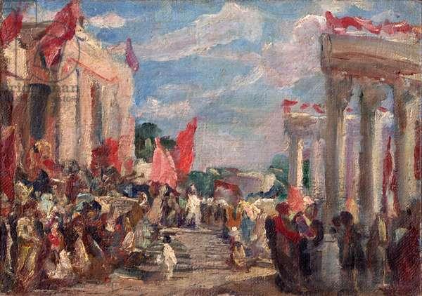 Communist Celebration, 1951 (oil on canvas)