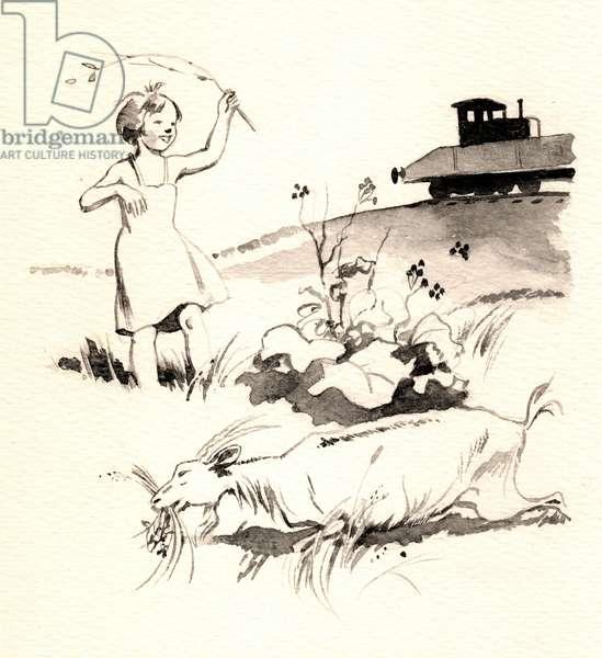 Illustration, 1955 (watercolour on paper)