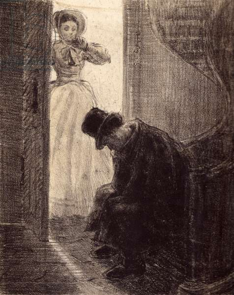 "Illustration to Fyodor Dostoyevsky's novel ""Humiliated and Insulted"" (1861), 1949 (litho)"