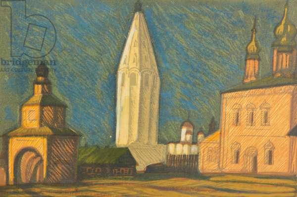 Suzdal, 1976 (linocut)