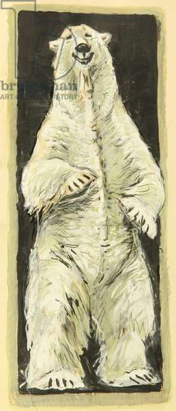 Polar Bear, c.1960 (gouache on paper)