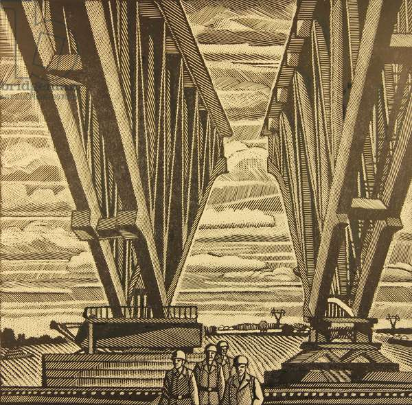 Metal Constructions, 1977 (linocut)