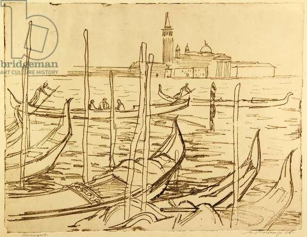 Venice, 1965 (etching)