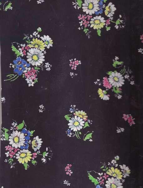 Textile Design, 1956 (gouache on paper)