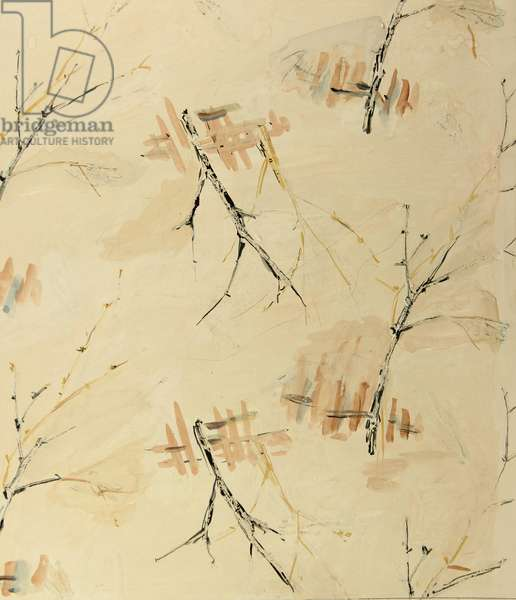 Winter Trees, 1958 (tempera on paper)