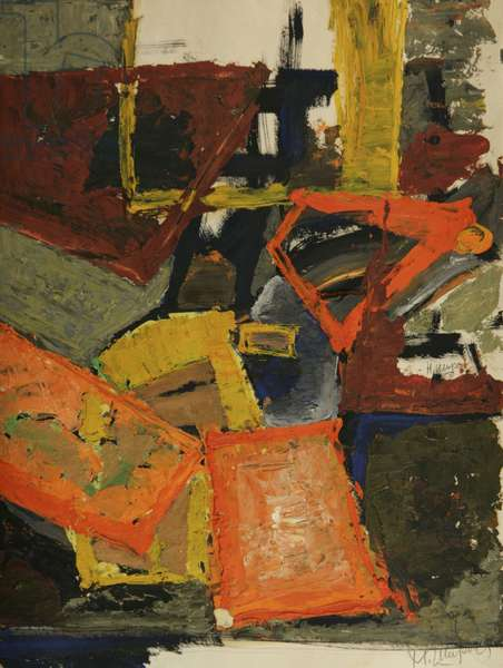Composition, c.1960 (tempera on paper)