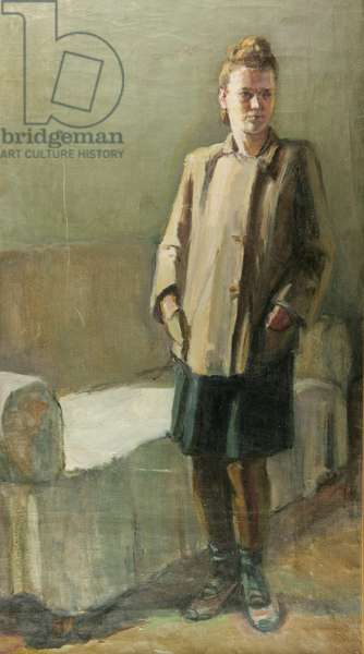 Woman in Interior, 1920s (oil on canvas)