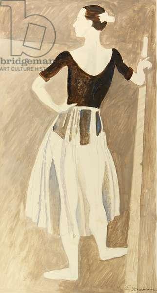 Ballerina, 1964 (tempera on paper)