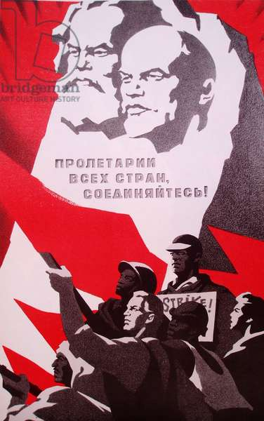Proletarians of All Countries, Unite!, 1972 (colour litho)