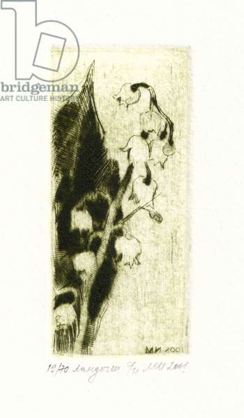 Lily of the Valley (Convallaria majalis), 2001 (drypoint)