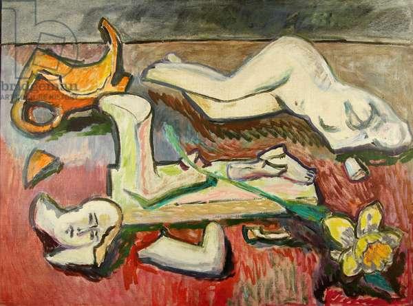 Still Life with Broken Statue, 1995 (oil on canvas)