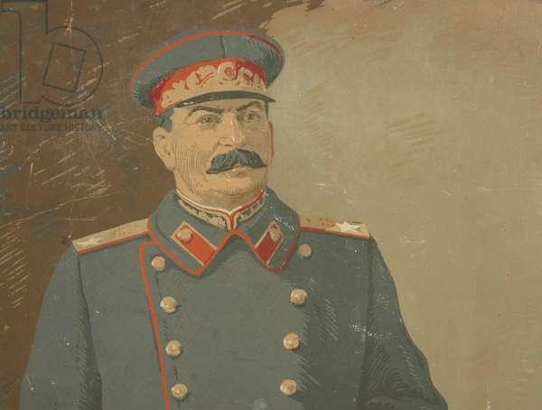 Stalin, 1930s (oil on card)