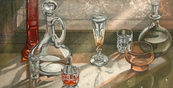 Glass and Crystal, 2003 (etching)