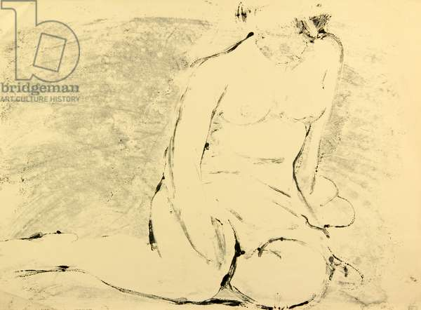 Nude on the Beach, 1958 (monotype)
