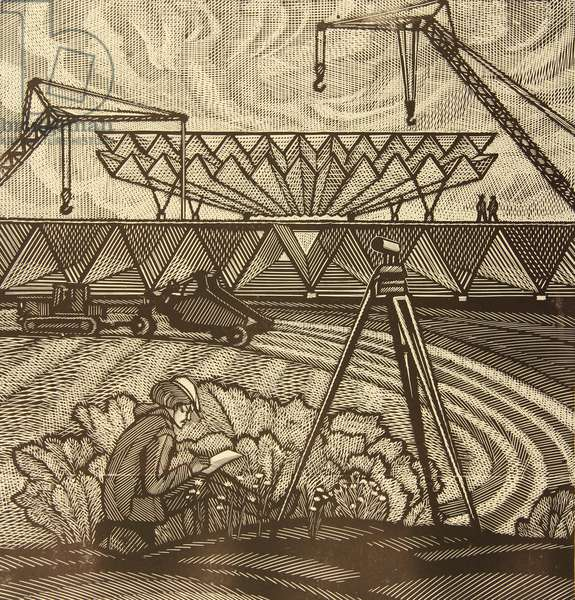 Land-Surveying, 1983 (linocut)