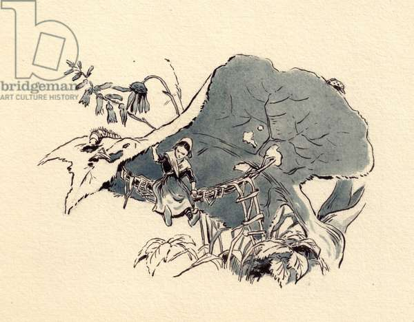 Illustration from 'Thumbelina' by Hans Christian Andersen, 1835 (watercolour on paper)