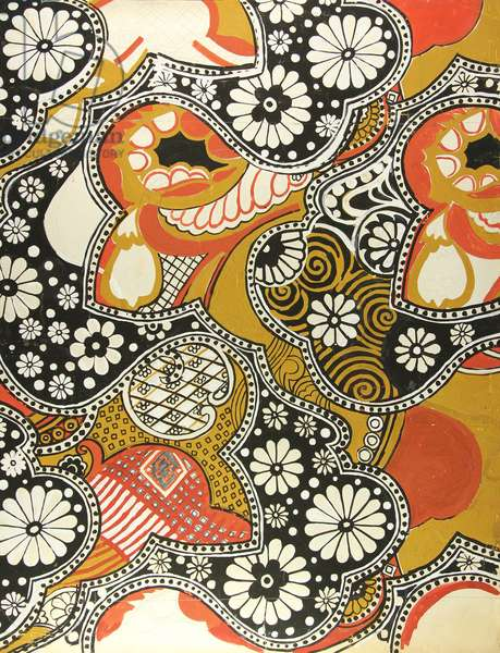 Sketch for Textile, 1960s (tempera on paper)