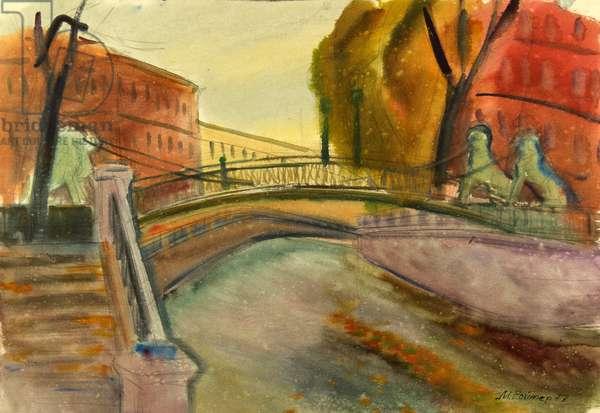 Lions Bridge, 1977 (w/c on paper)