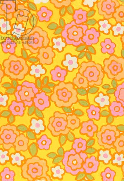 Textile Design, 1960s (tempera on paper)