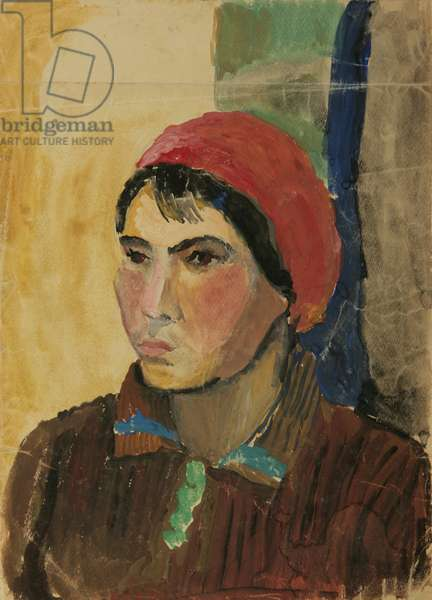 Portrait of a Woman Worker, 1930s (tempera on paper)